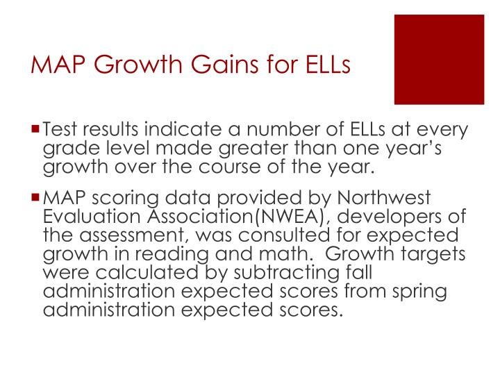 MAP Growth Gains for ELLs