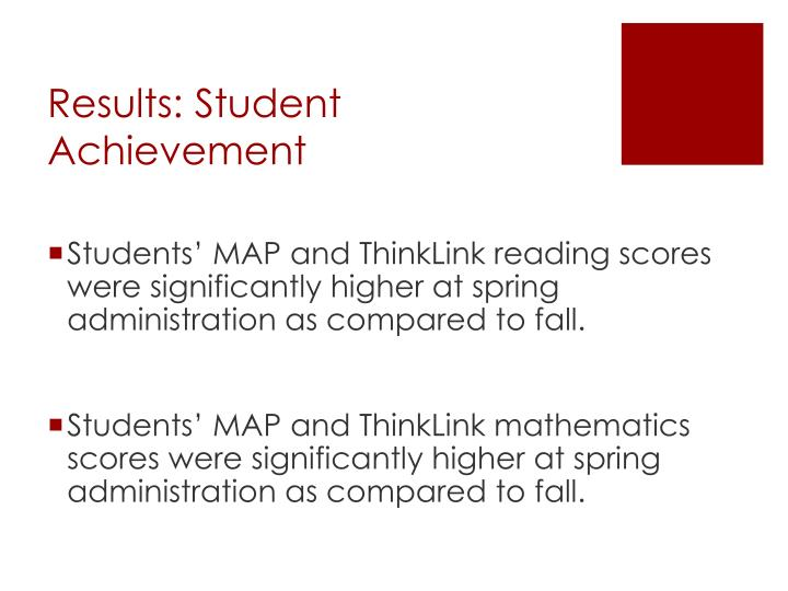 Results: Student Achievement