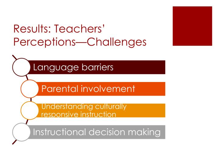 Results: Teachers' Perceptions—Challenges