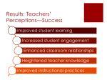 results teachers perceptions success