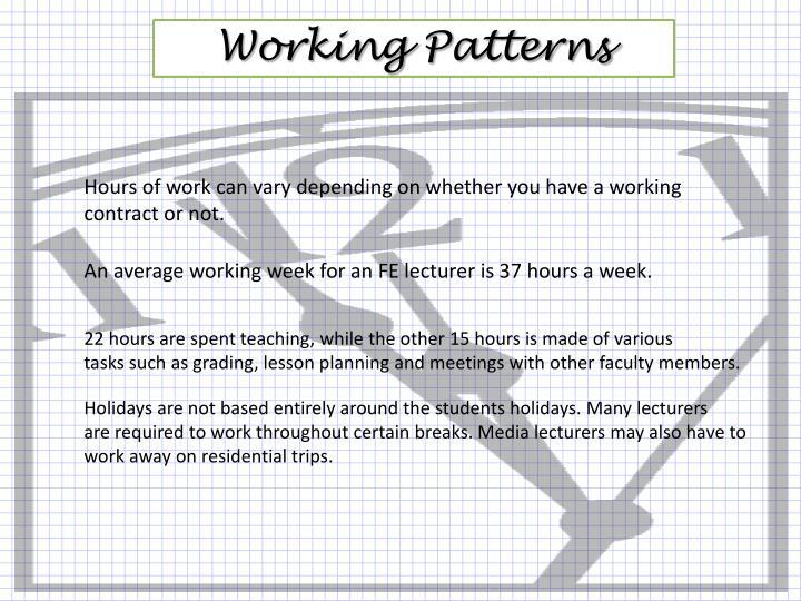 Working Patterns