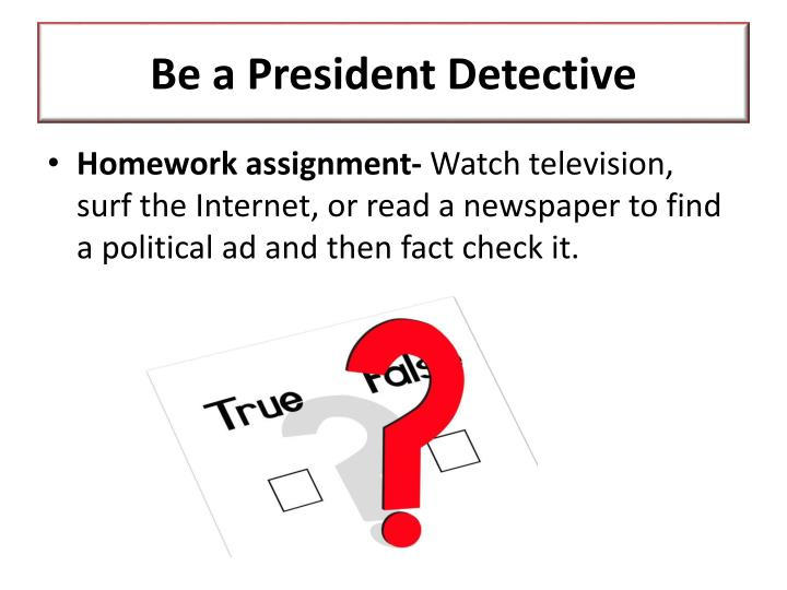 Be a President Detective