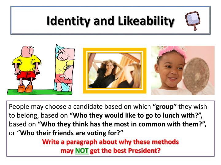 Identity and Likeability