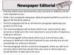 newspaper editorial