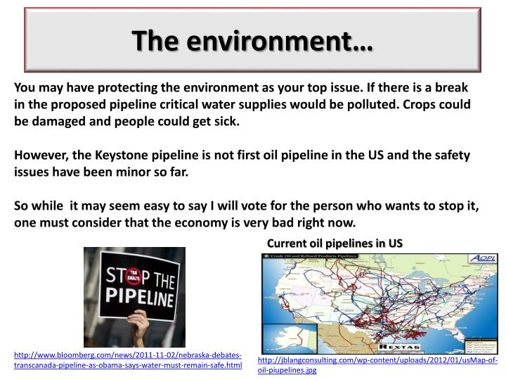 The environment…