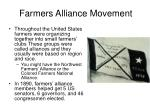 farmers alliance movement