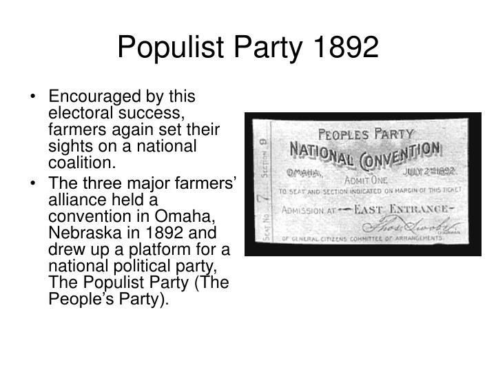 Populist Party 1892