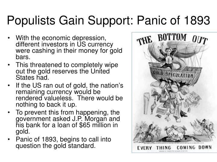 Populists Gain Support: Panic of 1893