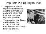 populists put up bryan too