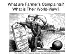what are farmer s complaints what is their world view