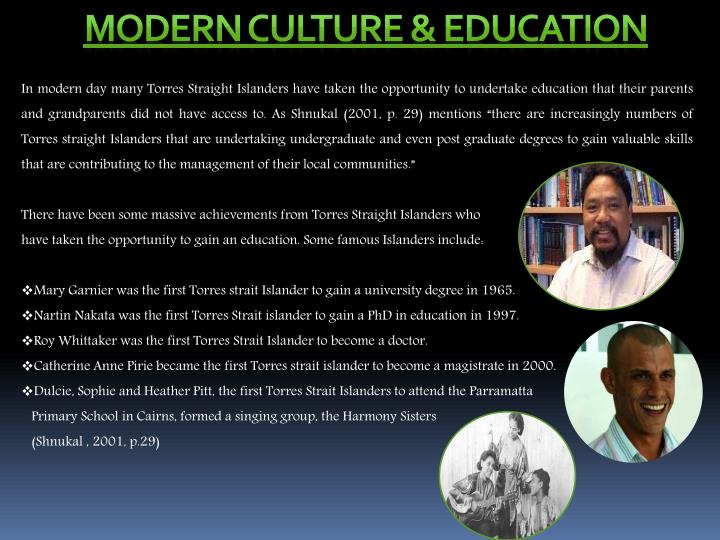 Modern culture & Education