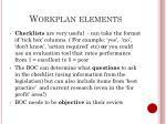 workplan elements