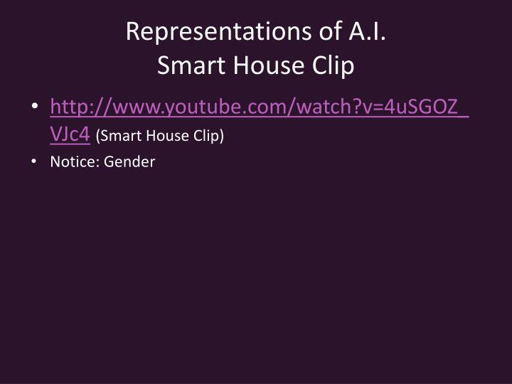 Representations of A.I.