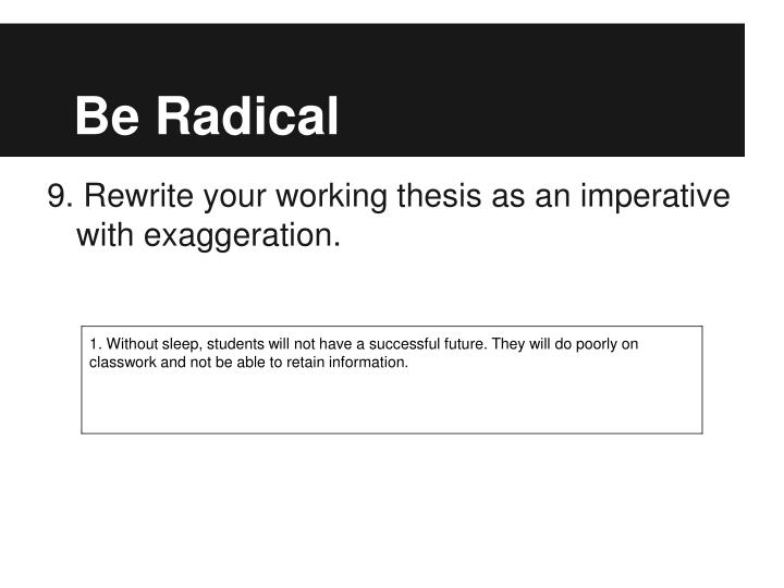 Be Radical