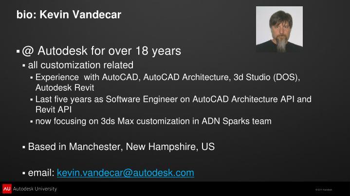 bio: Kevin Vandecar