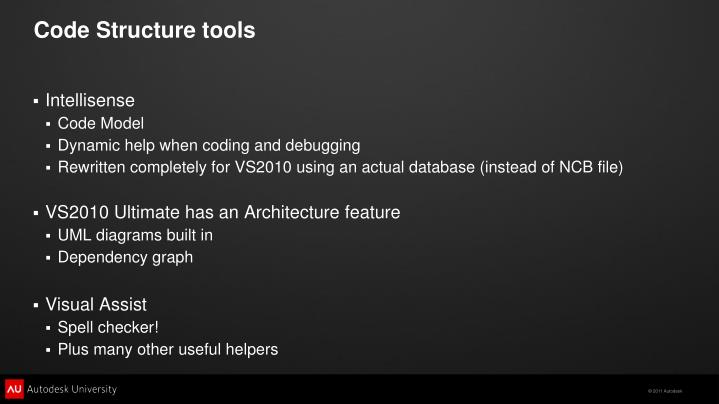 Code Structure tools
