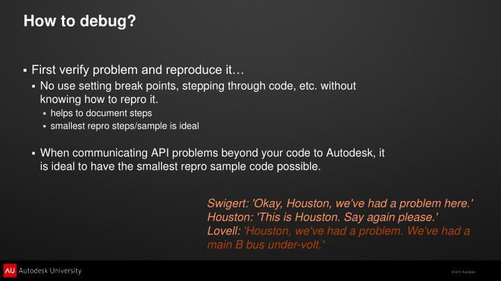 How to debug?