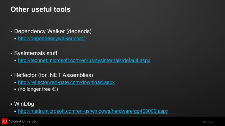 Other useful tools