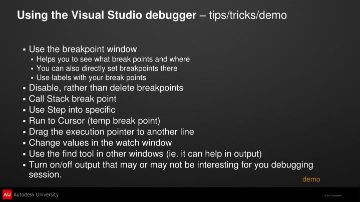 Using the Visual Studio