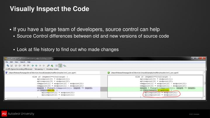 Visually Inspect the Code
