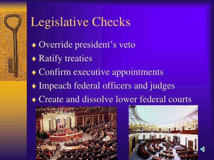 Legislative Checks