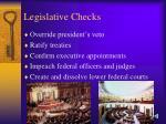 legislative checks