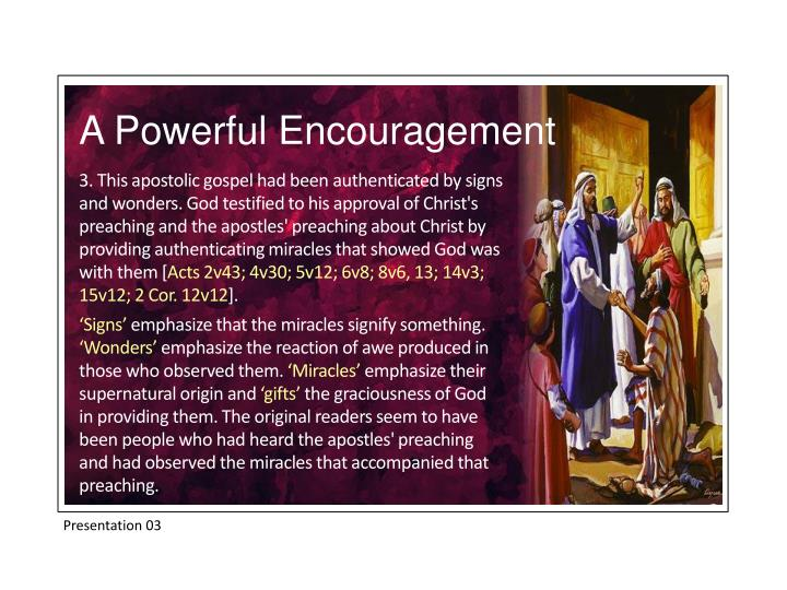 A Powerful Encouragement