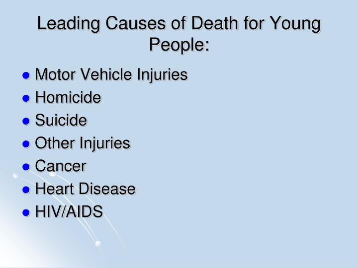 Leading Causes of Death for Young People: