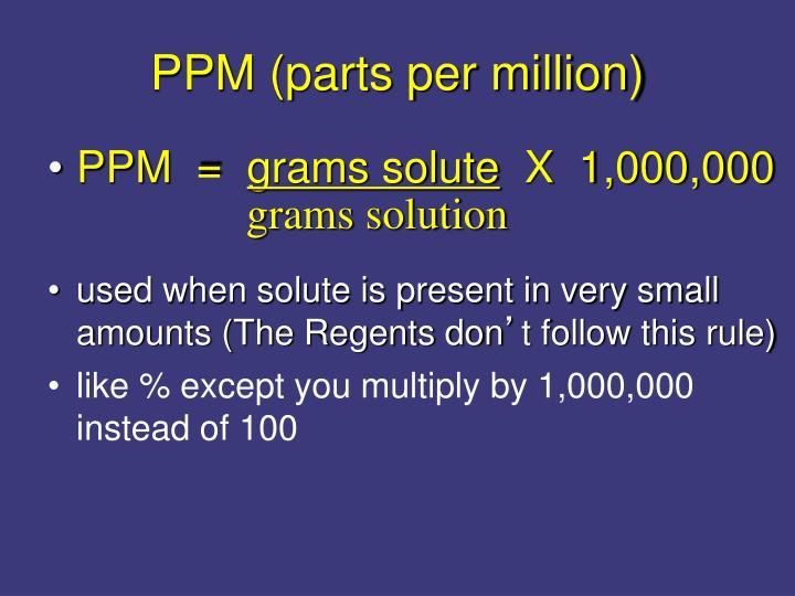 grams solution