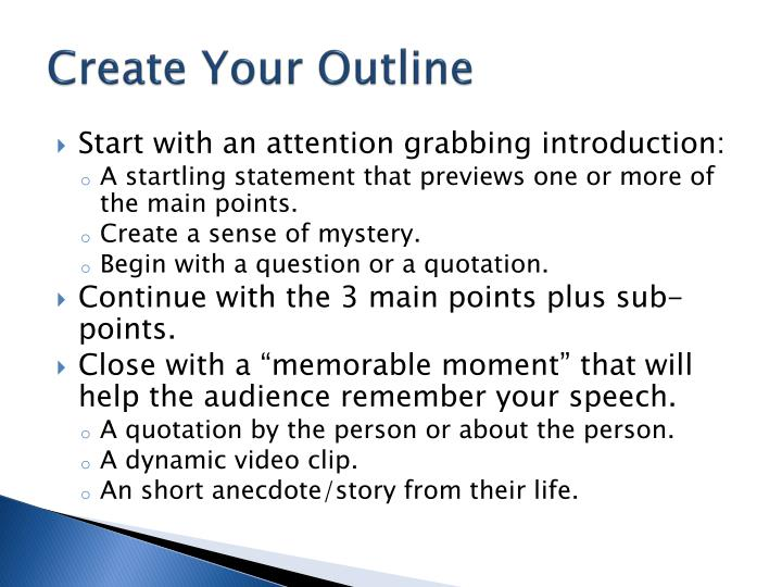 Create Your Outline