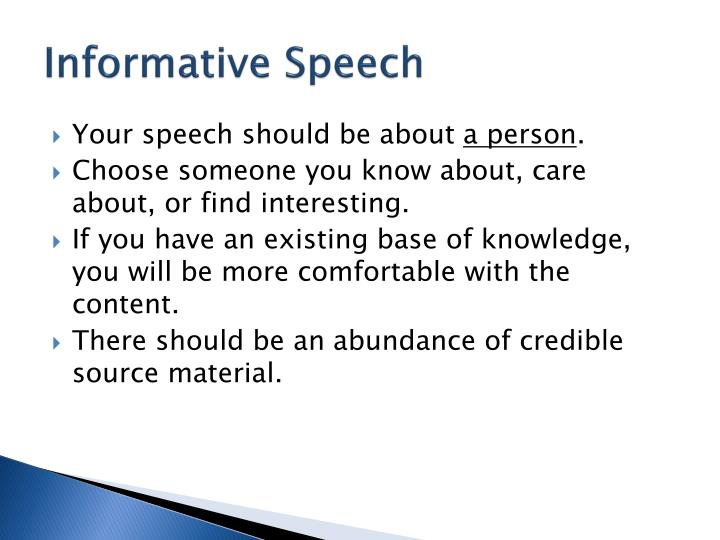 Informative Speech