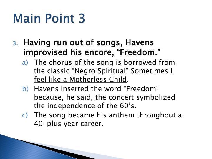 Main Point 3