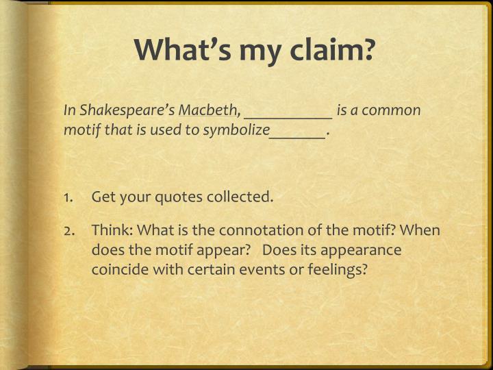 What's my claim?