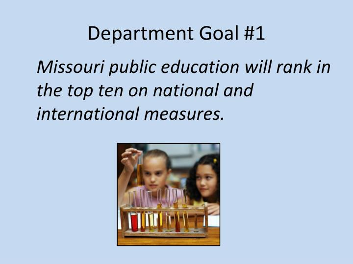 Department Goal #1