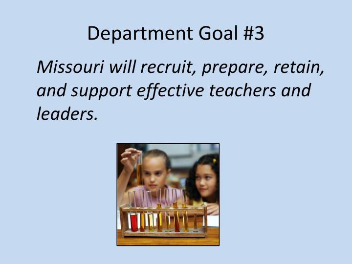Department Goal #3