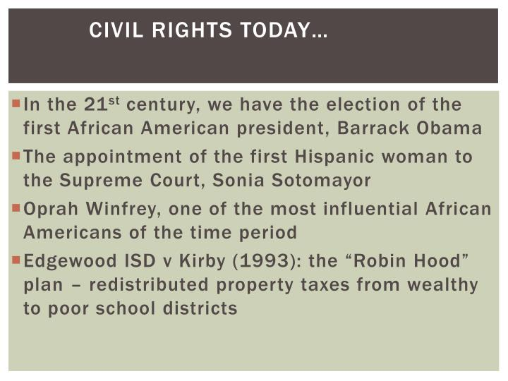 Civil Rights today…