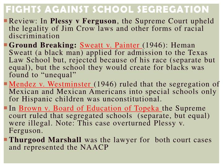 Fights Against School Segregation