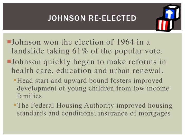 Johnson Re-elected