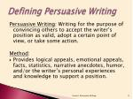 defining persuasive writing