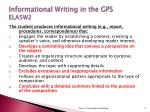 informational writing in the gps ela5w2