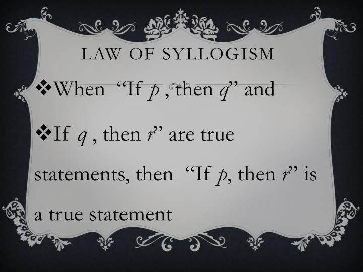 Law of syllogism