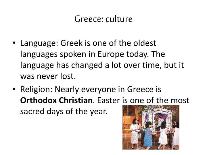 Greece: culture