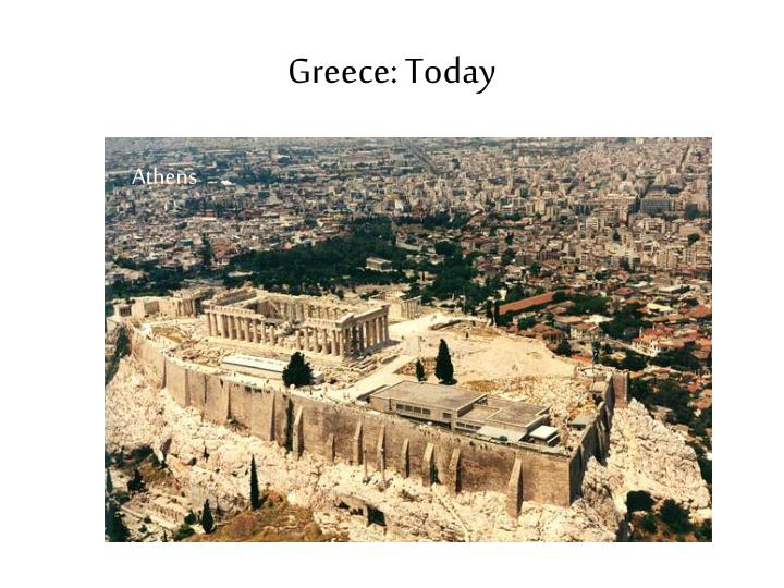 Greece: Today