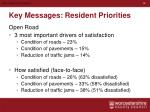 key messages resident priorities3