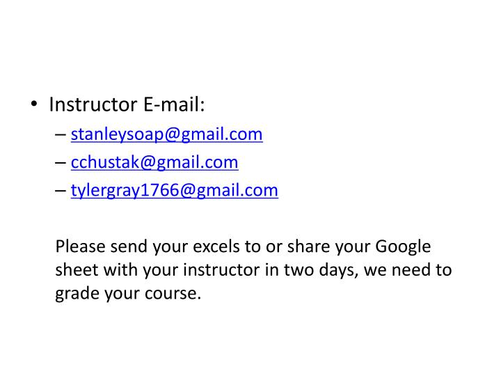 Instructor E-mail: