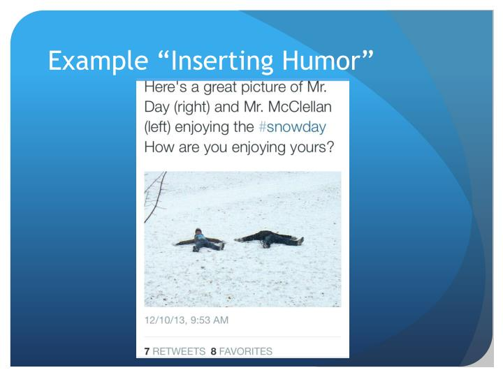 "Example ""Inserting Humor"""