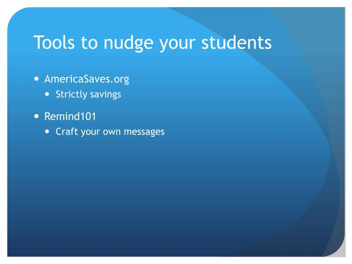 Tools to nudge your students