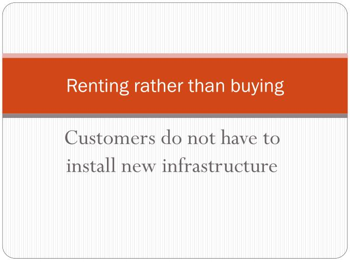 Renting rather than buying