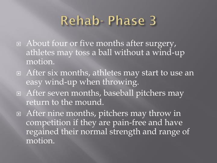 Rehab- Phase 3