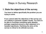 steps in survey research1
